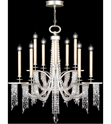 Fine Art Lamps Cascades 10 Light Chandelier in Warm Silver Leaf 748840ST photo