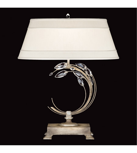 Fine Art Lamps Crystal Laurel 1 Light Table Lamp in Antiqued Warm Silver Leaf 758610ST photo