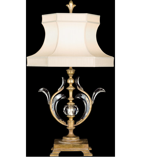 Fine Art Lamps Beveled Arcs 1 Light Table Lamp in Muted Gold Leaf 762010ST photo