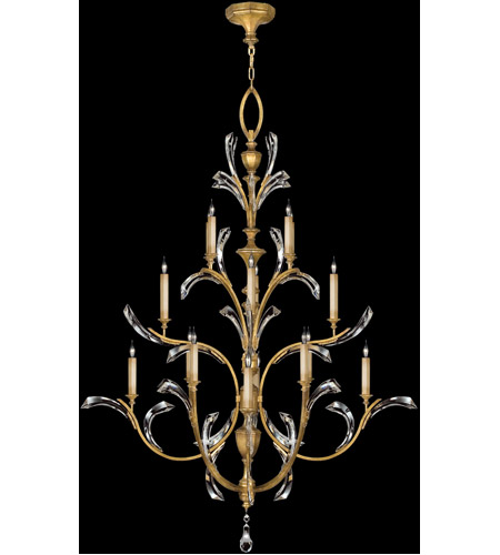 Fine Art Lamps Beveled Arcs 16 Light Chandelier in Muted Gold Leaf 767240ST photo