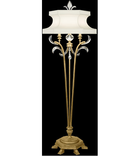 Fine Art Lamps 768620ST Beveled Arcs Gold 72 inch 150 watt Muted Gold Leaf Floor Lamp Portable Light photo