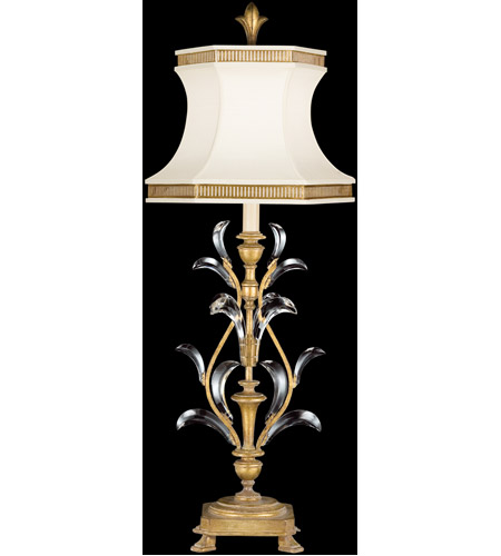 Fine Art Lamps Beveled Arcs 1 Light Table Lamp in Muted Gold Leaf 769010ST photo