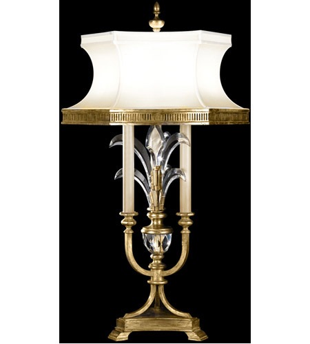 Fine Art Lamps Beveled Arcs 3 Light Table Lamp in Muted Gold Leaf 769410ST photo