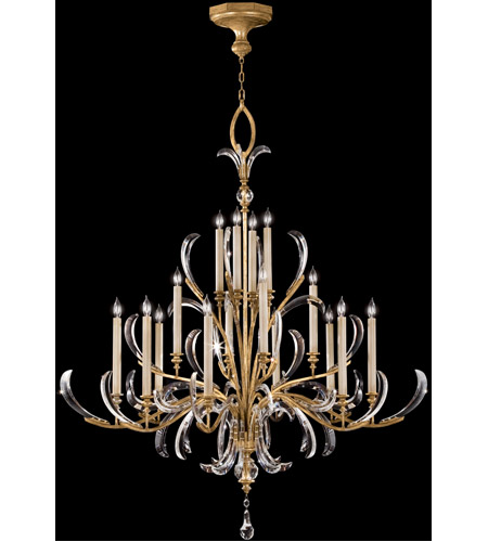 Fine Art Lamps Beveled Arcs 16 Light Chandelier in Muted Gold Leaf 770040ST photo