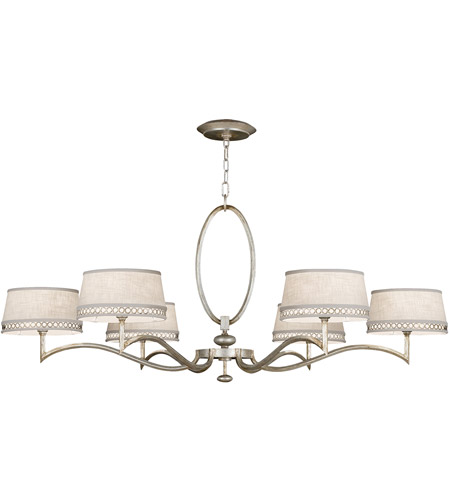 Fine Art Lamps 771740ST Allegretto Silver 6 Light 51 inch Platinized Silver Leaf Chandelier Ceiling Light photo