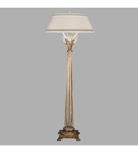 Fine Art Lamps Crystal Laurel 1 Light Floor Lamp in Gold Leaf 772520ST photo