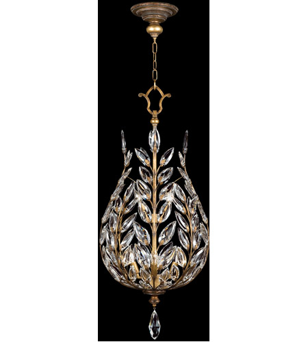Fine Art Lamps 776540ST Crystal Laurel Gold 6 Light 18 inch Warm Antiqued Silver Leaf Lantern Ceiling Light photo