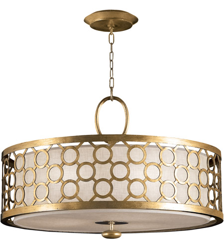 Fine Art Lamps Allegretto 3 Light Pendant in Burnished Gold Leaf 780140-2ST photo