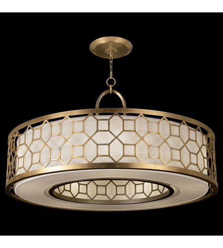 Fine Art Lamps 780340-2GU Allegretto 5 Light 48 inch Gold Pendant Ceiling Light photo