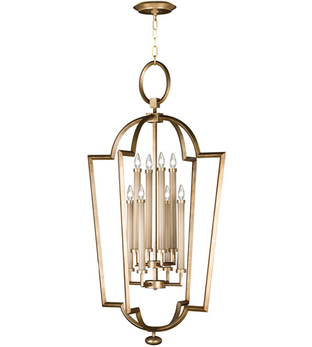 Fine Art Lamps 780440-2ST Allegretto Gold 8 Light 28 inch Burnished Gold Leaf Lantern Ceiling Light photo