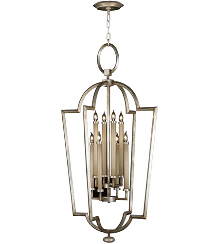 Fine Art Lamps 780440ST Allegretto Silver 8 Light 28 inch Platinized Silver Leaf Lantern Ceiling Light photo