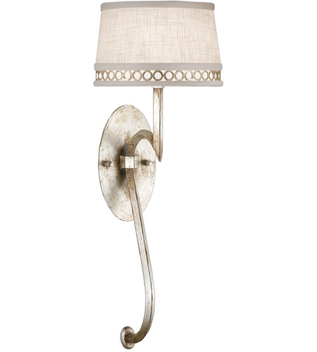 Fine Art Lamps Allegretto 1 Light Sconce in Platinized Silver Leaf 784650ST photo