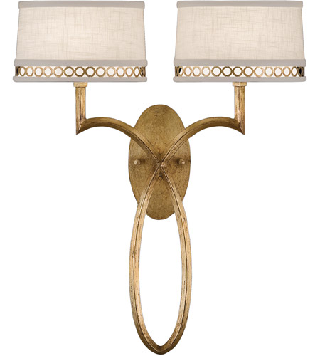 Fine Art Lamps Allegretto 2 Light Sconce in Burnished Gold Leaf 784750-2ST photo