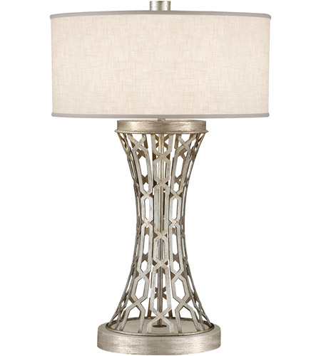 Fine Art Lamps Allegretto 1 Light Table Lamp in Platinized Silver Leaf 784910ST photo