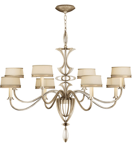 Fine Art Lamps Staccato 8 Light Chandelier in Toned Silver Leaf 786640ST photo