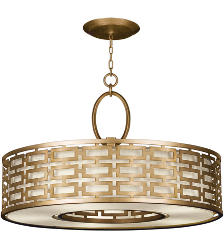 Fine Art Lamps 787640-2GU Allegretto Gold 5 Light 40 inch Burnished Gold Leaf Pendant Ceiling Light photo