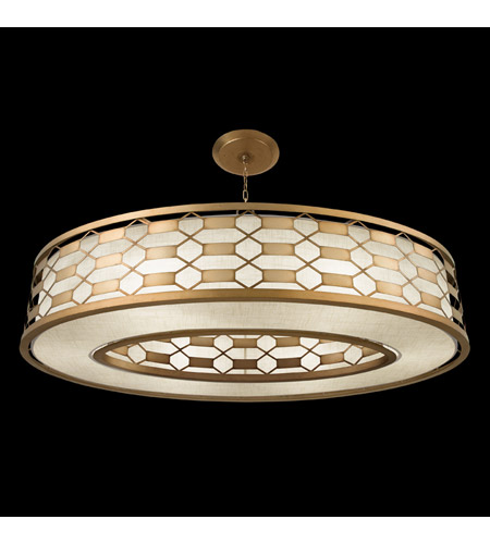 Fine Art Lamps 787740-2GU Allegretto Gold 6 Light 57 inch Burnished Gold Leaf Pendant Ceiling Light photo