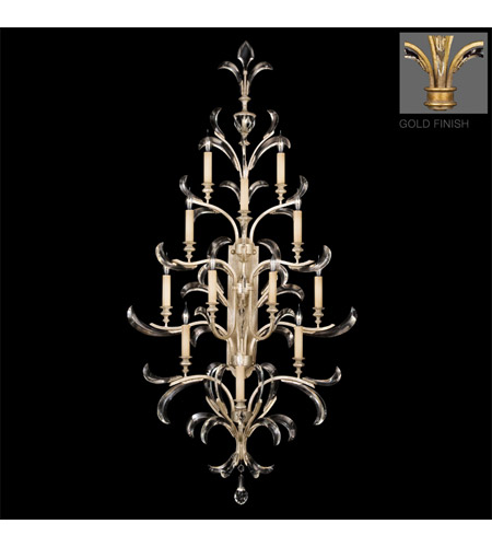 Fine Art Lamps Beveled Arcs 12 Light Sconce in Gold Leaf 789450-2ST photo