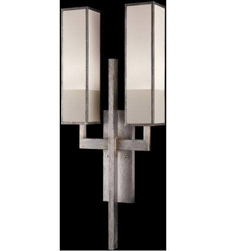 Fine Art Lamps 789950-2GU Perspectives Silver 2 Light 14 inch Muted Silver Leaf Sconce Wall Light photo