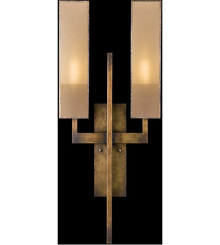 Fine Art Lamps Perspectives 2 Light Sconce in Patinated Golden Bronze 789950GU photo