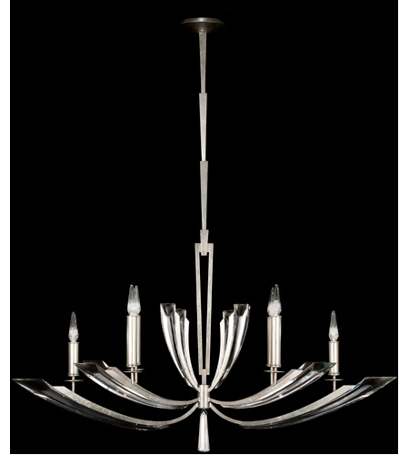 Fine Art Lamps 797440ST Vol de Cristal 6 Light 69 inch Platinized Silver Leaf Chandelier Ceiling Light photo