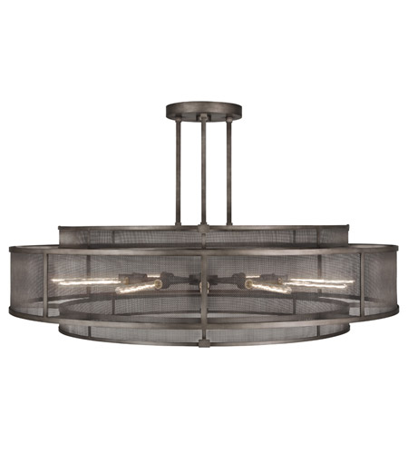 Fine Art Lamps Relativity 12 Light Pendant in Warm Antique Hand-Rubbed Steel 800140ST photo