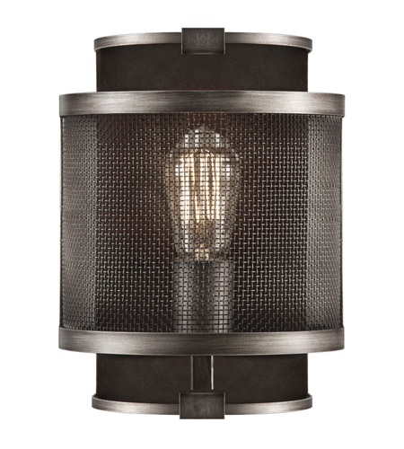 Fine Art Lamps 800550ST Relativity 1 Light 8 inch Warm Antique Hand-Rubbed Steel Sconce Wall Light photo