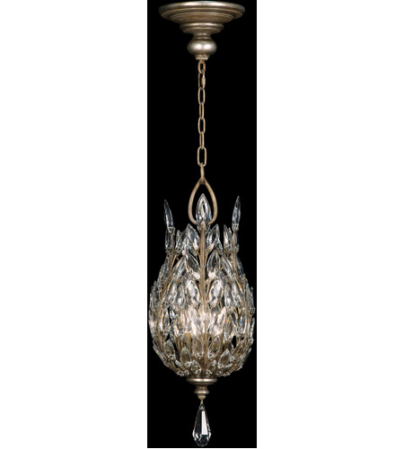Fine Art Lamps 804640ST Crystal Laurel 3 Light 11 inch Warm Silver Leaf Lantern Ceiling Light photo