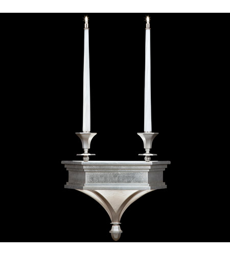 Fine Art Lamps Candlelight 21st Century 4 Light Sconce in Clear Silver Leaf 805250-2ST photo