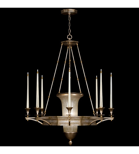 Fine Art Lamps 805840ST Candlelight 21st Century 11 Light 39 inch Warm Silver Leaf Chandelier Ceiling Light photo