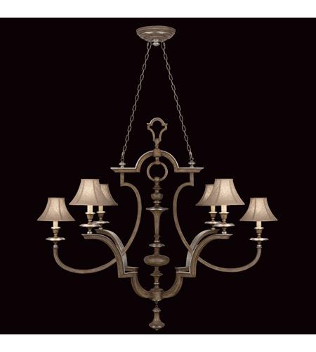 Fine Art Lamps Villa Vista 6 Light Chandelier in Hand Painted Driftwood 806840ST photo