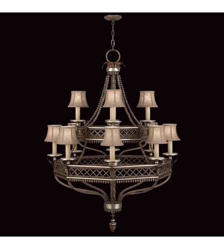 Fine Art Lamps 807240ST Villa Vista 12 Light 36 inch Hand Painted Driftwood Chandelier Ceiling Light photo