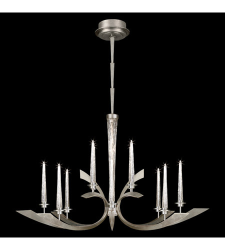 Fine Art Lamps Crescents 12 Light Chandelier In Silver