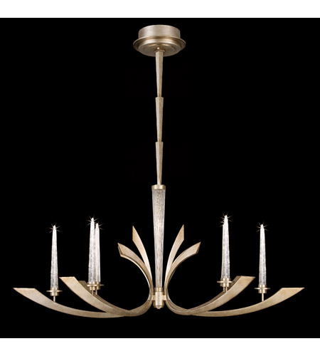 Fine Art Lamps 812640-2ST Crescents 6 Light 51 inch Warm Silver Leaf Chandelier Ceiling Light photo
