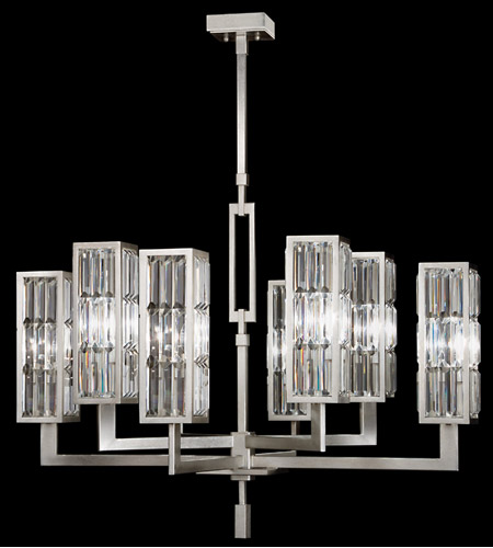 Fine Art Lamps Crystal Enchantment 8 Light Chandelier in Silver Leaf w/ Crystal 815440ST photo
