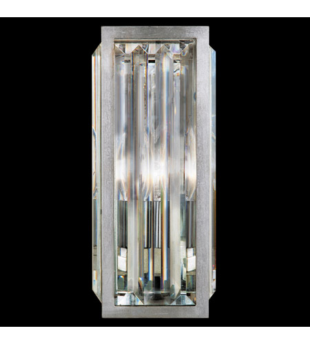 Fine Art Lamps Crystal Enchantment 1 Light Sconce in Silver Leaf w/ Crystal 815650ST photo