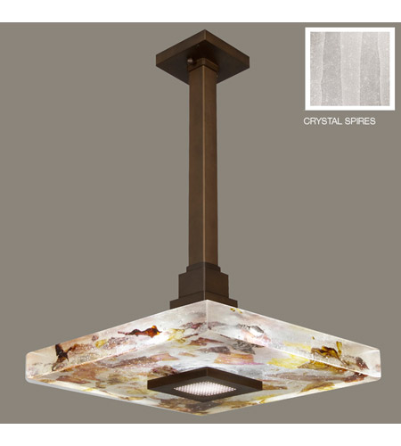 Fine Art Lamps Crystal Bakehouse 1 Light Pendant in Bronze with Polished Block of Crystal Shards 818840-13ST photo