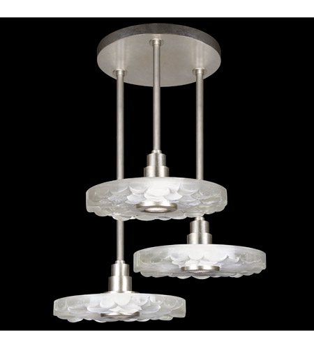 Fine Art Lamps 823640-34ST Crystal Bakehouse 3 Light 32 inch Silver Leaf Pendant Ceiling Light photo