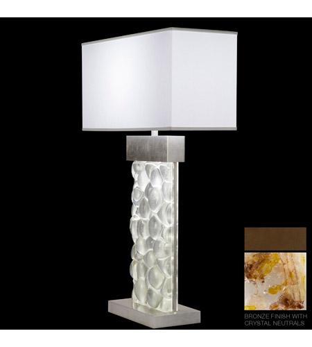 Fine Art Lamps Crystal Bakehouse 2 Light Table Lamp in Bronze with Polished Block of Carnelian & Citrine Crystal Shards 824610-11ST photo