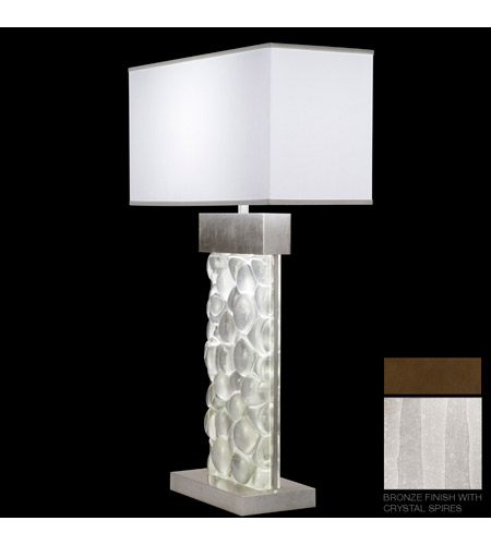 Fine Art Lamps Crystal Bakehouse 2 Light Table Lamp in Bronze with Polished Block of Crystal Shards 824610-13ST photo