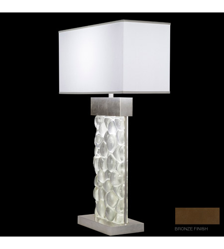 Fine Art Lamps Crystal Bakehouse 2 Light Table Lamp in Bronze with Polished Block of Crystal River Stones 824610-14ST photo