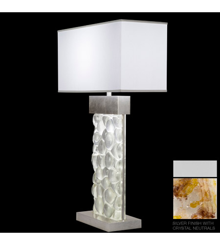 Fine Art Lamps Crystal Bakehouse 2 Light Table Lamp in Silver with Polished Block of Carnelian & Citrine Crystal Shards 824610-21ST photo