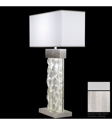 Fine Art Lamps Crystal Bakehouse 2 Light Table Lamp in Silver with Polished Block of Crystal Shards 824610-23ST photo