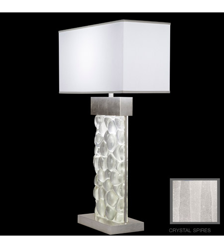 Fine Art Lamps Crystal Bakehouse 2 Light Table Lamp in Silver Leaf with Polished Block of Crystal Shards 824610-33ST photo