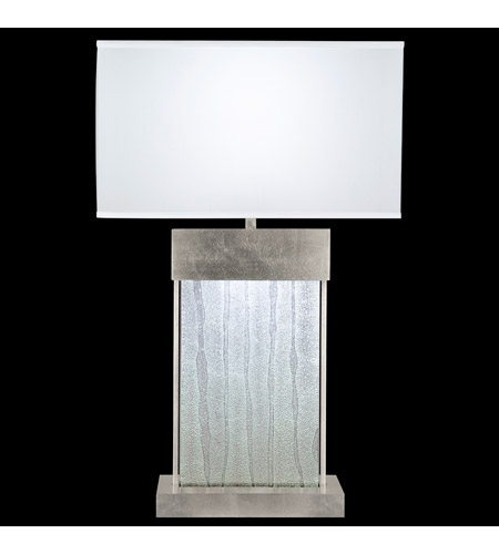 Fine Art Lamps Crystal Bakehouse 2 Light Table Lamp in Silver Leaf with Polished Block of Crystal Shards 824810-33ST photo
