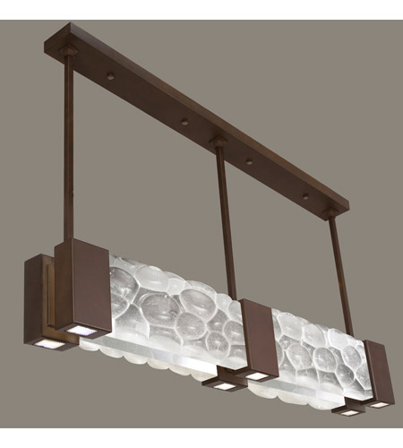 Fine Art Lamps Crystal Bakehouse 6 Light Pendant in Bronze with Polished Block of Crystal River Stones 825040-14ST photo