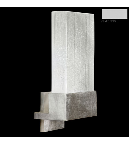 Fine Art Lamps Crystal Bakehouse 1 Light Sconce in Silver with Polished Block of Crystal Shards 825250-23ST photo