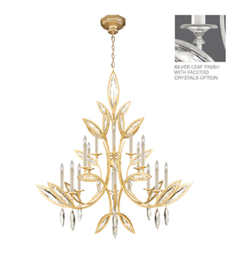 Fine Art Lamps Marquise 16 Light Chandelier In Platinized