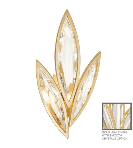 Fine Art Lamps Marquise 2 Light Wall Sconce in Florentine Brushed Gold Leaf 854250-21ST