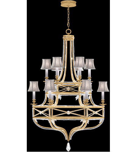 Brandenburg Gold Leaf Prussian Neoclassic Chandeliers